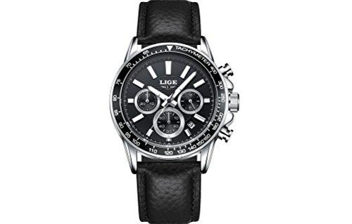 Relojes de Hombre Crongrafo De Cuarzo De Moda Para Caballero Movimiento Suizo Caja de Acero Inoxidable 2018 Nueva Coleccin RE0092