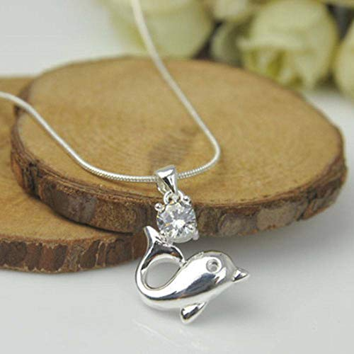 (Without chain!Silver Plated Fashion Women Dolphin Pendant Necklace Chain Jewelry)