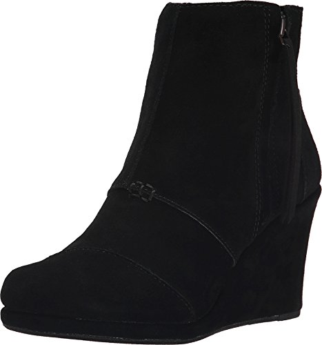 TOMS Women's Desert Wedge High Black Suede Boot 12 B (M)