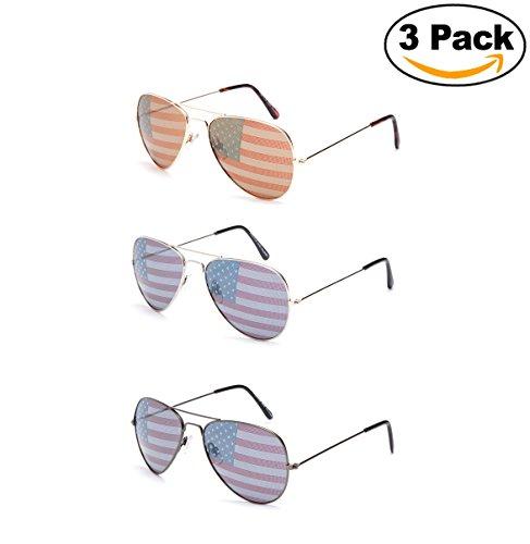 Kyra World Cup USMNT Flag Patriotic Olympic Soccer Aviator Style - Soccer Sunglasses