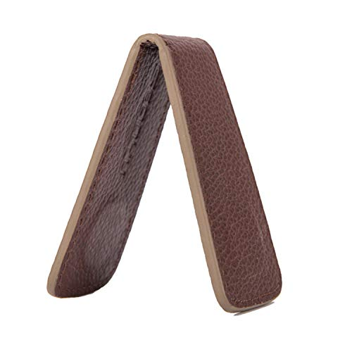 (Minimalist Leather Money Clips Magnet Men Wallet and Purses Vintage Clips for Money Carteras Hombre(02Brown,-))