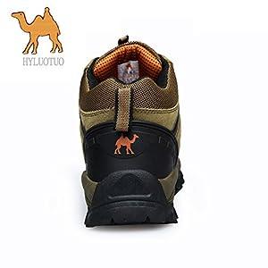 3C Camel HUAYU 5696 Mens Walking Hiking Trail Waterproof Ventilated Mid High-Cut Gray Boots (7.5, Brown)