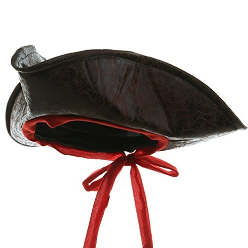 Jacobson Hat Company Child Sized Carribean Pirate Costume Tri-Corner Distressed Brown Hat ()