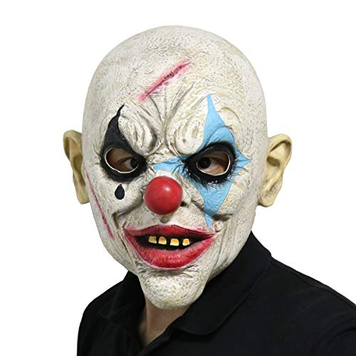 FantasyParty Halloween Creepy Mask Costume Party Latex Scary Clown Mask Joker Mask (Bald) -
