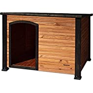 Precision Pet by Petmate Extreme Weather-Resistant Log Cabin Dog House With Adjustable Feet, 4 Sizes Available, Large, Natural Wood