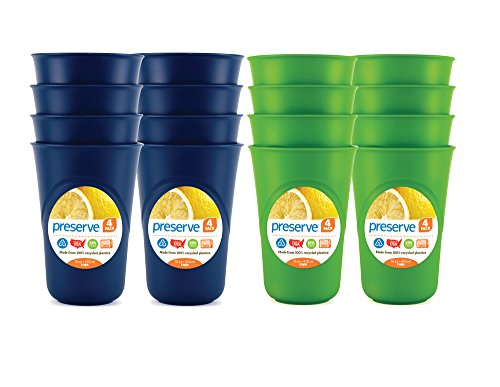 Preserve Everyday Tableware Cup Set, Blue and Green