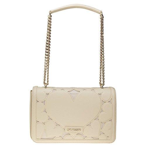 Love Moschino Chain Heart Womens Handbag Natural by Love Moschino (Image #4)