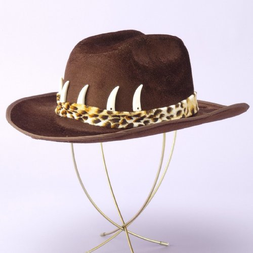 Forum Novelties Cowboy Hat with Teeth, Brown -