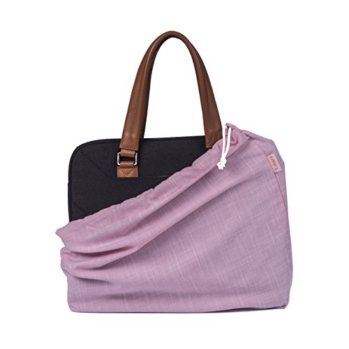 T-mars Cotton, Breathable Dust Proof Bag for Handbag, Shoes, Purse Storage, Drawstring Travel Organizer, Set of 3 (Pink)