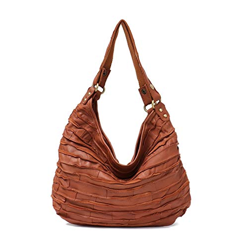 Small Luxury Leather Handbags Shoulder Bag Women Messenger Bags Leather Patchwork Bags Woman Bag,TAN ()
