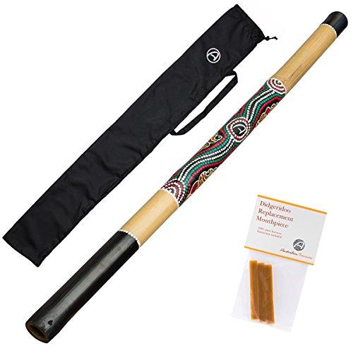 Bamboo Didgeridoo. Good beginner didgeridoo. Includes pure beeswax and nylon bag!
