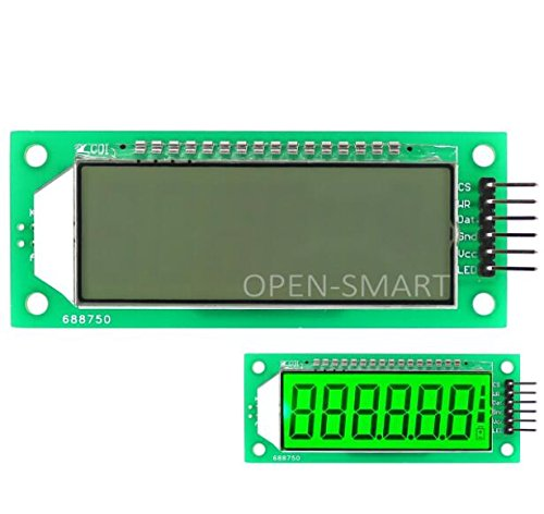 5pcs lot 2.4 Inch 6 Digit 7 Segment TFT LCD Shield LCD Screen Display Module with Green Backlight