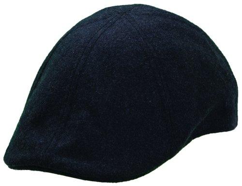 Woolrich Mens Black Melton Wool Duckbill, L (Duckbill Cap)