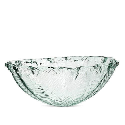 (Abbott Collection 83-SEQUOIA-503 Textured Clam Bowl Clear)