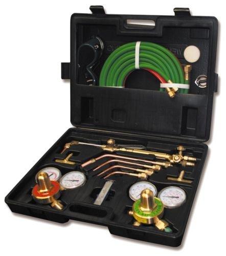 Gas Cutting Welding Kit Torch Acetylene Victor Welder Oxygen Oxy Type Regulator Set Cga New Tool Kits And Case W 1yr Warranty