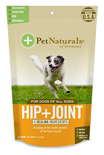 Pet Naturals of Vermont - Hip + Joint for Dogs, Daily Joint Support Supplement, 60 Bite-Sized Chews