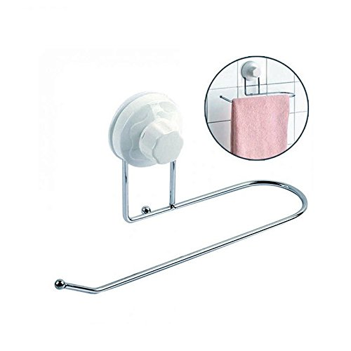Agordo Suction Cup Hook Hangers Toilet Paper Tissue Bar Holder Bathroom Wall Towel Rack