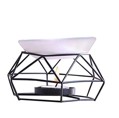 Stainless Steel Aromatherapy Burner - Stainless Steel Oil Burner Candle Aromatherapy Oil Lamp Home Decorations Aroma Furnace Black