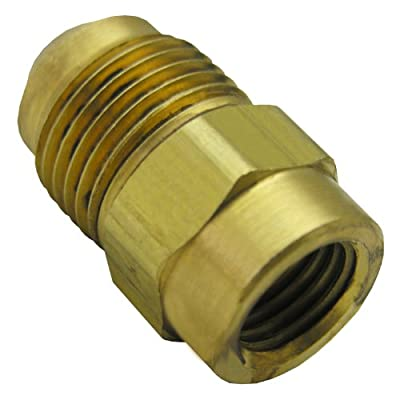 LASCO 17-5813 1/4-Inch Female Flare by 3/8-Inch Male Flare Brass Adapter