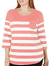 Plus Engineered Stripe Top