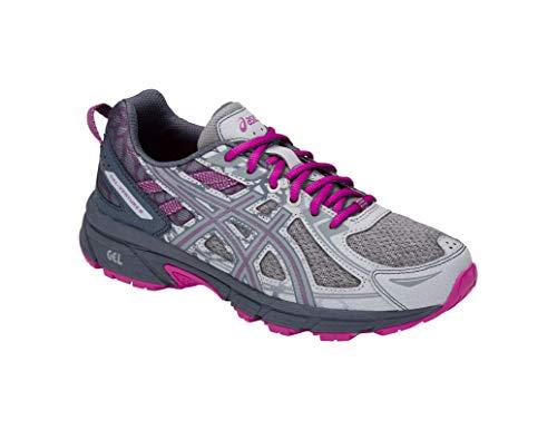 8b690cba699b4 ASICS Gel-Venture 6 MX Women's Running Shoe, Mid Grey/Purple Spectrum, 8 M  US