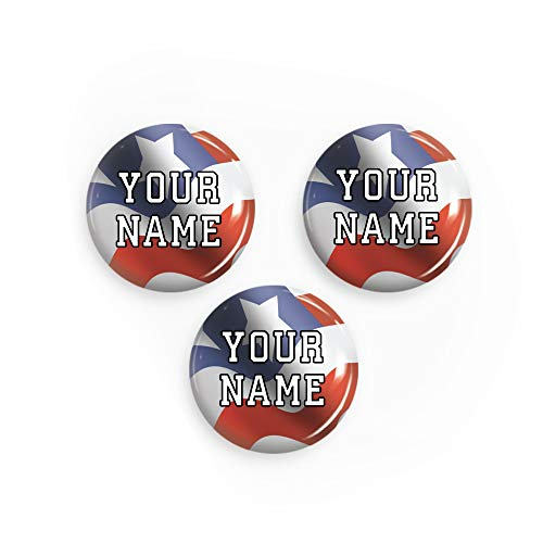 Personalized Pinback Buttons (USA Flag Theme)