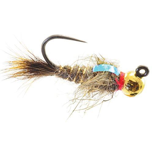 (Umpqua Jigged Hare's Ear Tungsten Gold Bead 10 4 Pack)