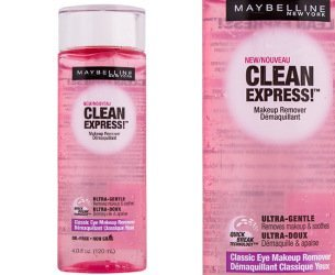 - 2 Pk, Maybelline New York Clean Express Classic Eye Makeup Remover, 4 Fluid Ounce