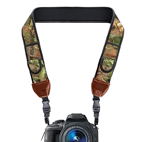 DSLR Camera Strap with Camouflage Nature Neoprene Pattern an