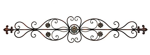 Elegant Metal Scroll Metal Wall Plaque, Wall Decor