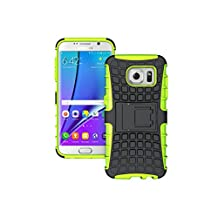 DouKou Samsung Galaxy ACE 4 Case,Silicone & Hard Plastic 2 Layer Protective Durable Case Cover , with Kickstand for Samsung Galaxy ACE 4 (Green)
