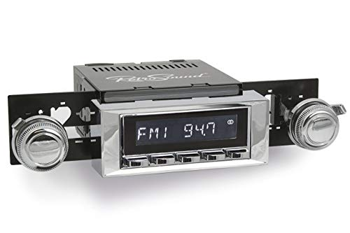 Retro Manufacturing Long Beach Radio with Chrome Face and Bezel & Knobs Kit LC-M4-116-03-73