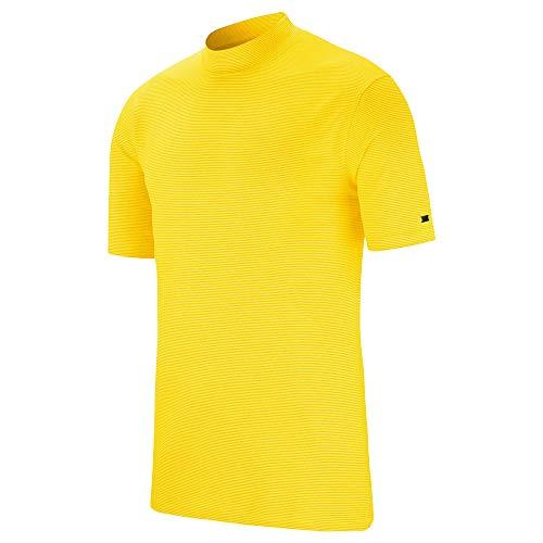 Nike TW Vapor Dri Fit Mock OLC Golf Polo 2019 Chrome Yellow Medium