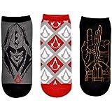 Assassin's Creed Socks (3 Pair) - Cosplay Costume Merchandise - Women & Men's (1 Size) Low Cut Socks