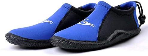 スノーケリングシューズ漂流水陸両用速乾性水泳、屋外ポータブルローカット加硫ダイビングシューズ快適なワタリアップストリームシューズダイビングシューズ ポータブル (色 : Blue, Size : US10)