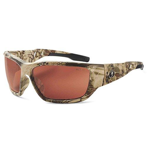 - Ergodyne Skullerz Baldr Safety Sunglasses- Kryptek Highlander Brown Camo Frame, Copper Lens