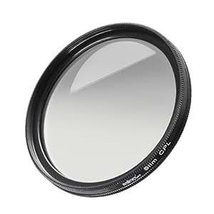 Walimex Pro - Filtro polarizado fino de 72 mm (cristal templado varias veces), negro
