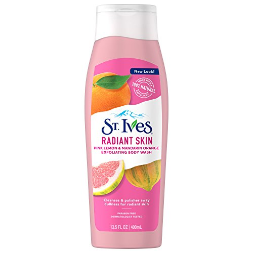 St. Ives Radiant Skin Body Wash, Pink Lemon and Mandarin Orange, 13.5 oz