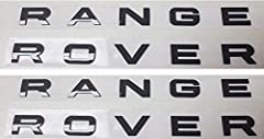 """2 Sets of Bbrand new set of (2) Gloss Black """"RANGE ROVER"""" Letters for ALL Range Rover SPORT models 2006 -2018 Comes with templates to line up letters correctly Strong 3M double sided sticker for secure installation 47mm x 31mm (width varies b..."""