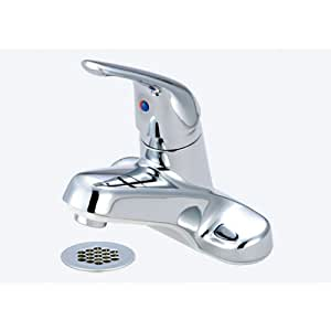 Olympia Faucets L-6161H Single Handle Lavatory Faucet, Chrome Finish