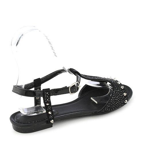 Breckelles Womens Deena-01 Sandale - Noir Taille 6