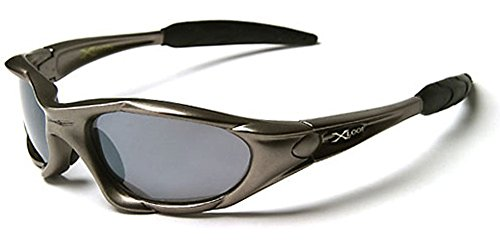X-loop Designer Sunglasses (X-Loop Wrap Around Mens Sport Sunglasses - Gray)