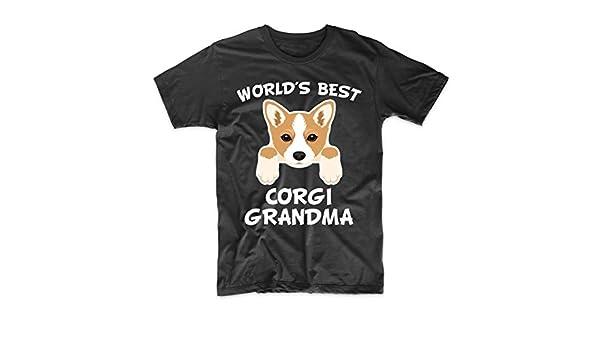 f2c8f243 Amazon.com: World's Best Corgi Grandma Dog Granddog T-Shirt: Clothing