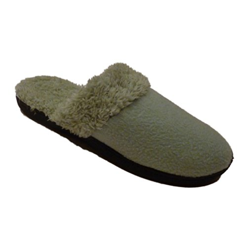 Isotoner Womens Jade Green Clog Slippers Cozy Faux Fur e1kro9sxT