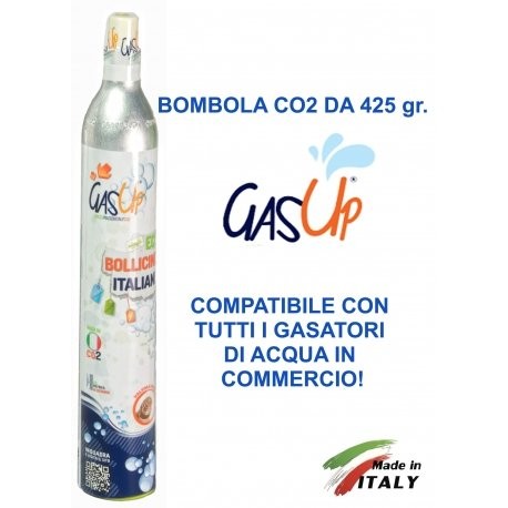 Bombola Co2 da 425 gr. ricaricabile GAS UP con attacco ACME Gasmarine