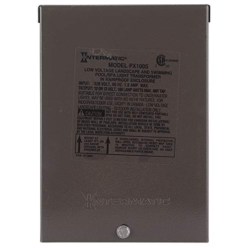 (Intermatic PX100S Pool Light 100-Watt Safety Transformer, Stainless Steel,)