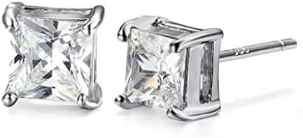 Round Shape Cubic Zirconia Titanium Steel Women Earrings By AnaZoz Jewelry