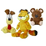 Garfield the Cat Plush Set: Garfield, Odie, Pooky by Aurora World (15cm-25cm)