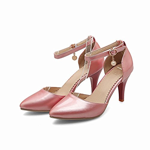 Mee Shoes Damen hocher Absatz ankle stap Knöchelriemchen Pumps Pink