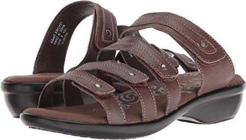(Propet Women's Aurora Slide Sandals, Bronze Leather, Foam, Polyurethane, 9 W)